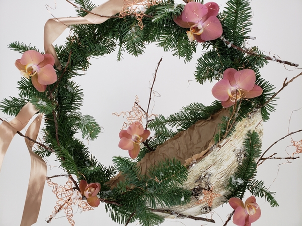 Diy gift Christmas wreath to make yourself