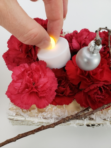 Without disturbing any design details when you switch the candles on
