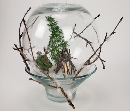 Have yourself a Merry Cellulose Fibre Christmas: Snow Globe