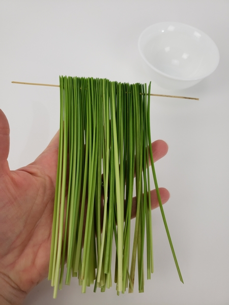Creating a stacked grass armature to fan out