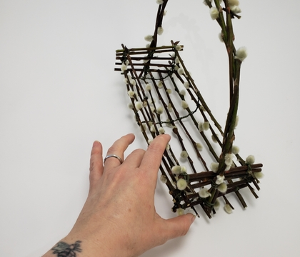 Catch Blossom Petals in a Pussy Willow tray basket