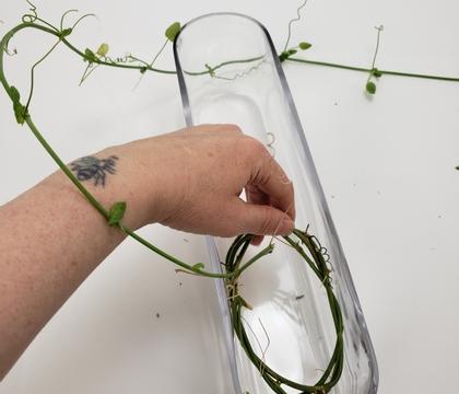 Submerged vine wreath armature to beat the summer heat
