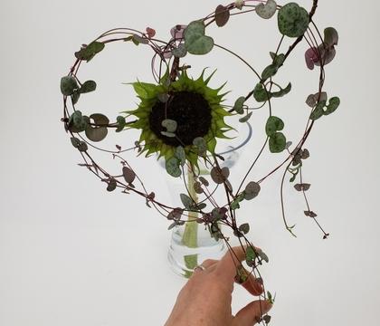 Light as a kite wire spiked sunflower heart